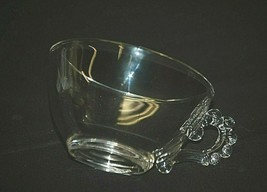 Candlewick Clear by Imperial Glass Ohio Coffee Tea Punch Cup w Beaded Ha... - $8.90