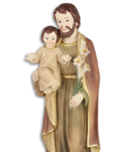 LARGE SAINT JOSEPH WITH THE INFANT JESUS, Christmas decor *Free Air Ship... - $99.00