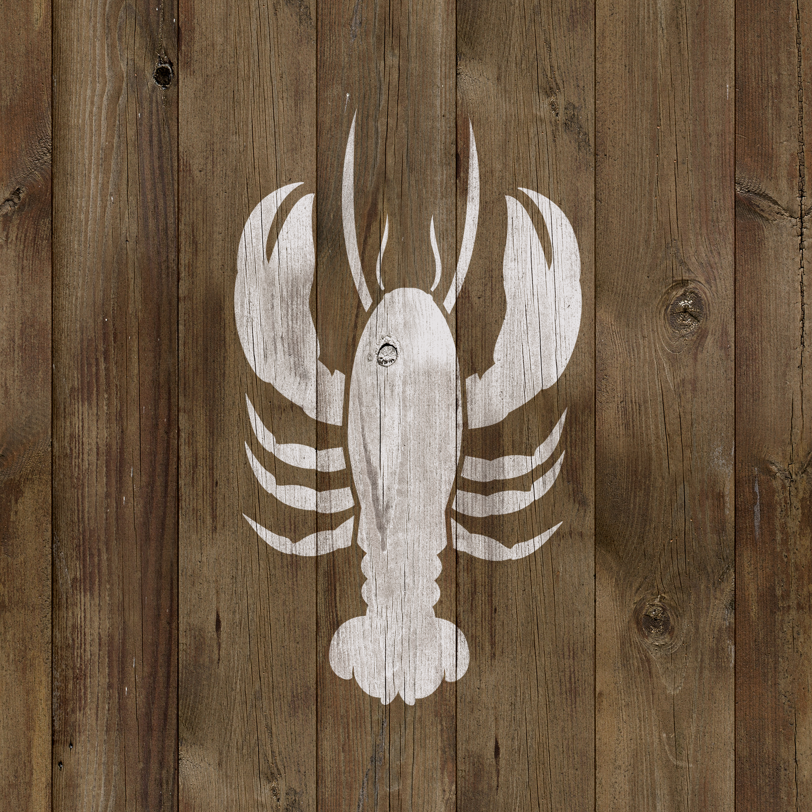 Lobster Stencil - Durable & Reusable Mylar Stencils