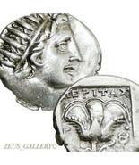 Rhodes HELIOS, Rose Caduceus Ancient Greek Silver Drachm Plinthophoric C... - $314.10