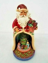 Jim Shore Christmas Spirit Lives Within Santa w/ Kids Lighted Revolving ... - $36.63