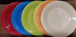 """HOMER LAUGHLIN CHINA, FIESTA, SIX (6) DINNER PLATES, 10.5"""" DIAMETER, ASS... - $30.00"""