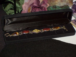 QVC Sterling WK Whitney Kelly AGATE Mother of Pearl Tiger Eye Bracelet T... - $79.19