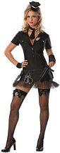 Delicious Women's Book Em Cop Costume, black