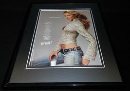Gisele Bundchen 2001 Got Milk Mustache Framed 11x14 ORIGINAL Advertisement - $32.36