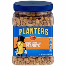 Planters Honey Roasted Peanuts 34.5oz, Pack of 2