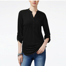 NWT Almost Famous Black Open Back Lace Trim Knit Top Tunic Long Sleeve Xl - $16.99