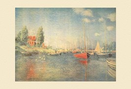 The Red Boats, Argenteruil by Claude Monet - Art Print - $19.99+