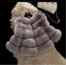 Women Winter fashion Designer Thick Faux Mink Coat image 7
