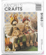 McCalls Crafts 9163 Sewing Pattern Christmas Straw stocking Two Bunnies ... - $10.00