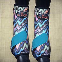 Medium Hilason Horse Front Leg Sport Boot Ultimate Zigzag Turquoise U-UR-M - $49.95