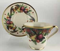 Lenox Holiday Tartan Cup & saucer  - $35.00