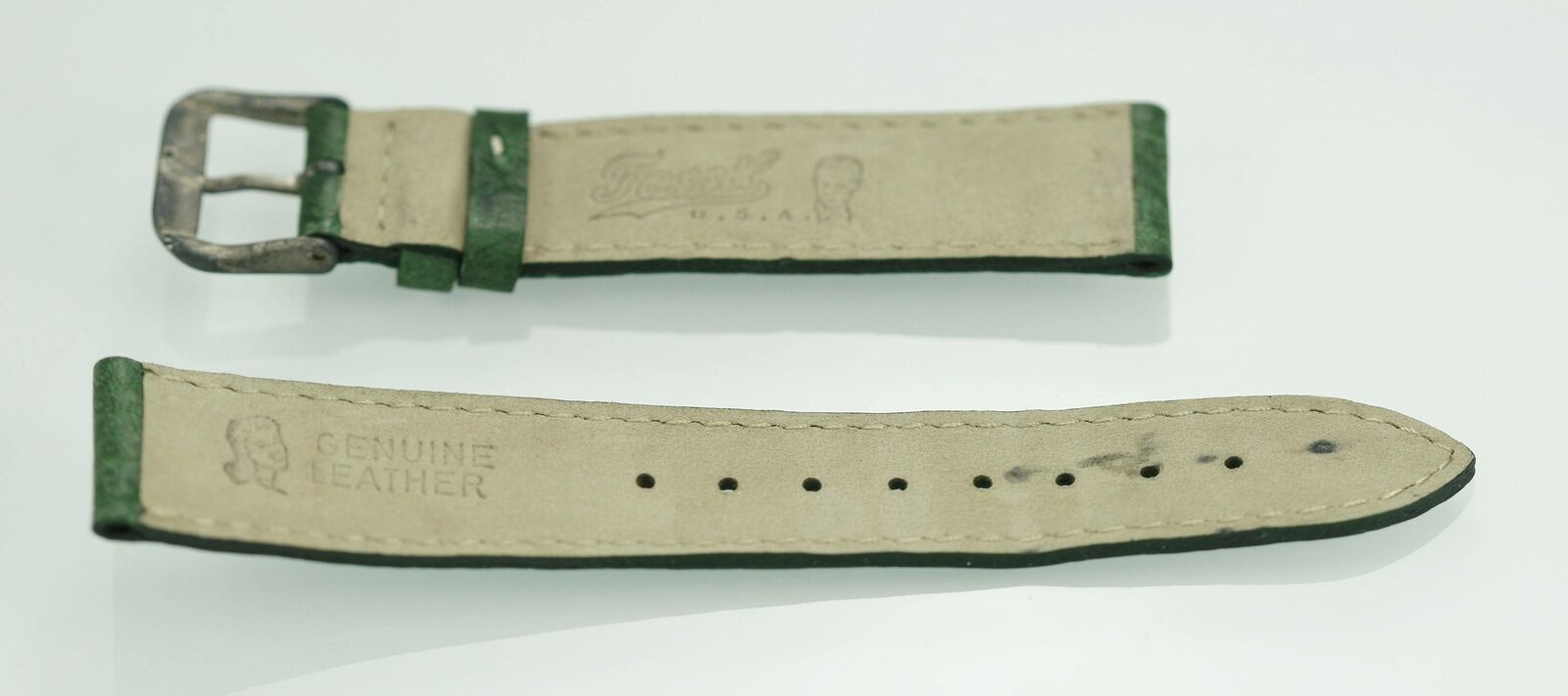 Fossil Unisex Stainless Steel Green Leather Replacement Watch Band 18mm