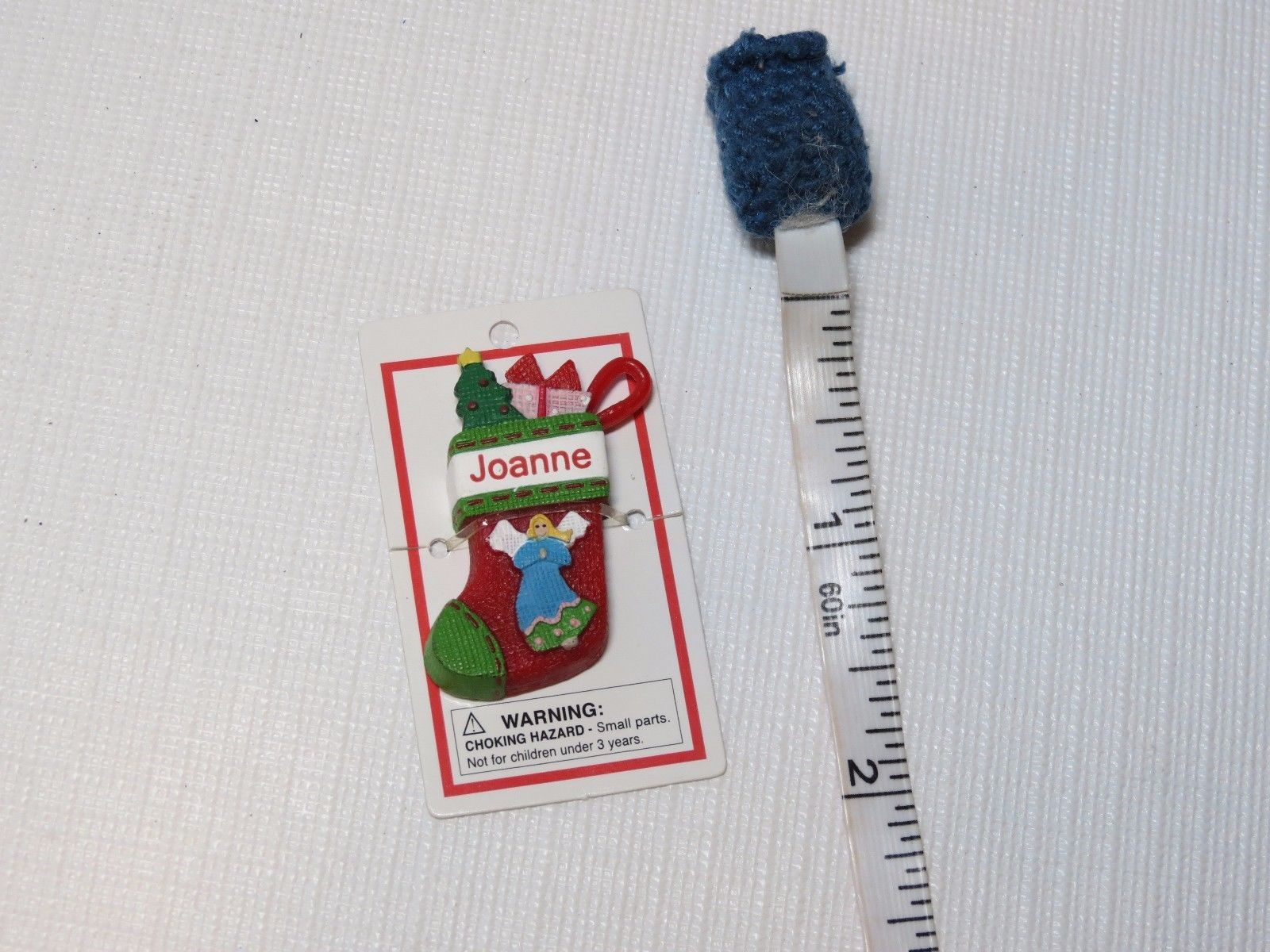 Primary image for Itsy Bitsy Stocking Ornament name Joanne MINI Ganz personalized Christmas gift