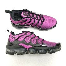 Nike Air Vapormax Plus Active Shoes Fuchsia Black 924453-603 Mens Size 1... - $112.16