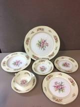 ONE SETTING OF 7 ROSE china (Noritake) RO52 Floral Spray pattern - $51.48