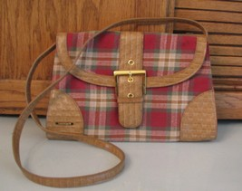 Longaberger Homestead PURSE Plaid Shoulder BAG Handbag Pocketbook  - $16.82