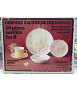 Royal China Enchanted Garden American Ironstone 40 Piece Dinnerware Set NOS - $31.68