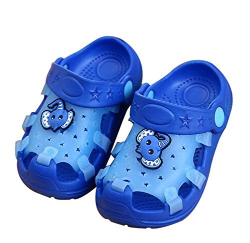 Kids Sandals in/Outdoor Toddler Clogs Shoes/Blue Elephant 18CM Length