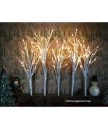 POTTERY BARN LIT WHITE FOREST -NIB- LIGHT THE WAY TO WARMTH AND CHEER! - $124.95