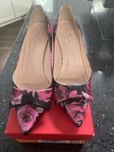 kate spade Juliette Leather Rose Print Heels 8 - $72.92