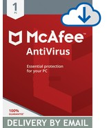 MCAFEE ANTIVIRUS PLUS 2020 - 2 Year  1 PC- DOWNLOAD Version Email Delivery - $6.29