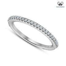 Wedding Women's Band Ring 18k White Gold Plated Brilliant Round Cut Sim ... - £35.51 GBP