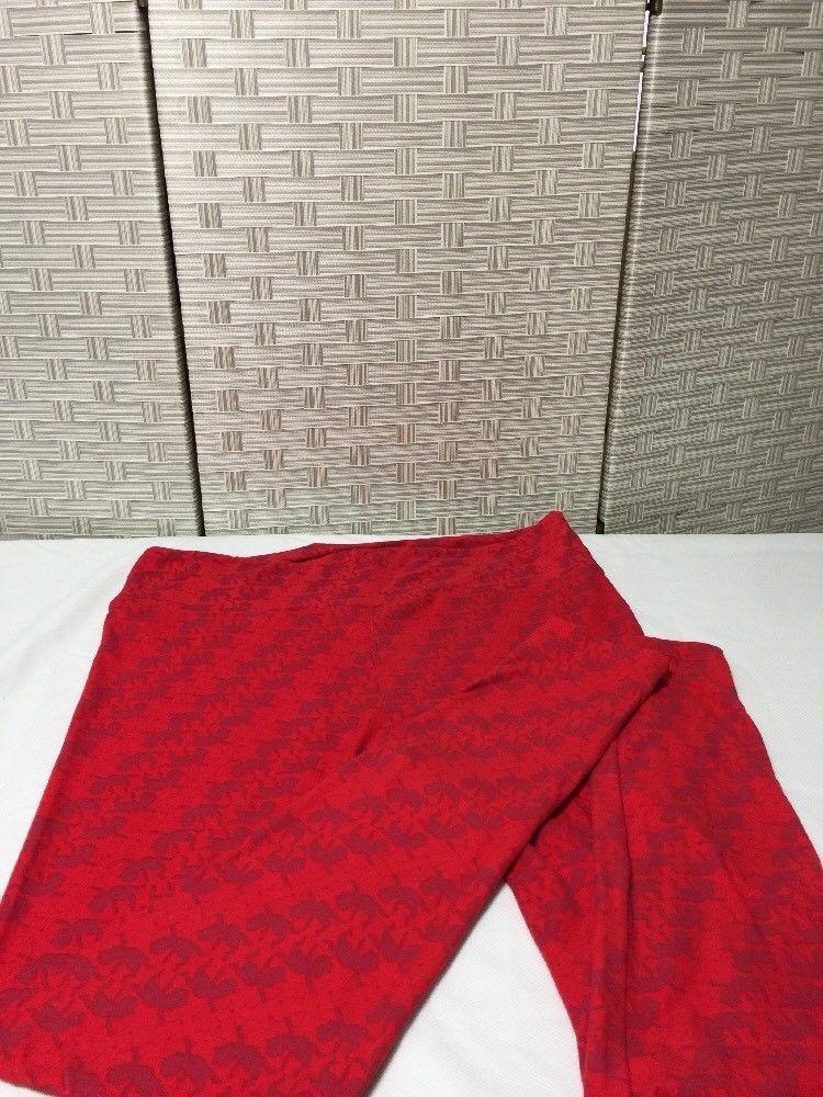 LulaRoe Tall & Curvy TC Leggings Valentine Red  Cupid Design  Nwot