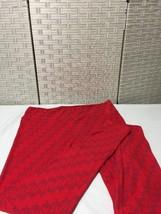 LulaRoe Tall & Curvy TC Leggings Valentine Red  Cupid Design  Nwot image 1