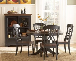 Homelegance Ohana 5 Piece Round Dining Table Set in Black/Warm Cherry - $1,200.19