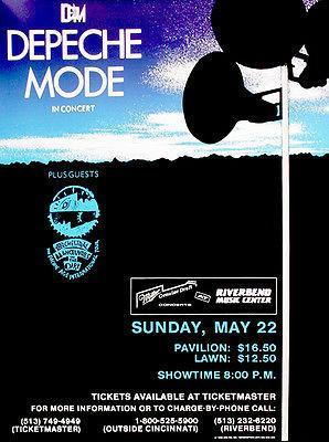 Primary image for Depeche Mode - 1988 - Riverbend Music Center - Concert Poster