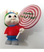 Hallmark Keepsake Ornament Grandson You're a Treat Bunny With Lollipop 1995 - $6.49