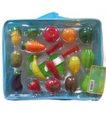 Little Treasures Fruit and Vegetables Play Kitchen Food for Pretend Cutt... - $12.99