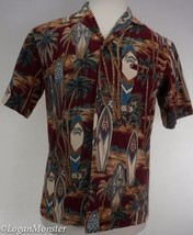 Royal Creations S Hawaiian Aloha Shirt Univ of Hawaii Rainbows Surfboard... - $23.76