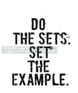 Do The Sets. Set The Example Fitness Motivation Quote, Weightloss Quote,... - $12.88+