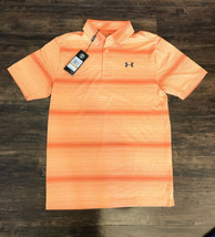 Under Armour Golf Mens The Playoff Polo Loose Fit HeatGear Orange SIZE SMALL $65 - $35.63