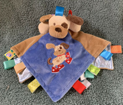 Taggies Mary Meyer Baby Lovey Buddy Puppy Dog Plush Security Blanket Soother EUC - $12.86