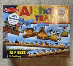 Melissa & Doug Alphabet Train Floor Puzzle 28 Piece 10 Feet Long Very Ni... - $15.44