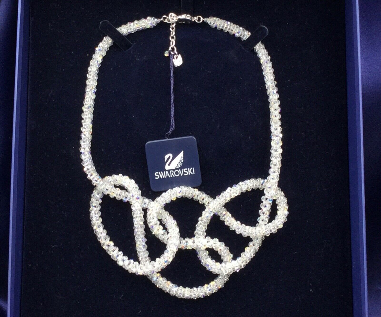 Primary image for AUTHENTIC SIGNED SWAROVSKI CHAMPAGNE AURORA BOREALIS NECKLACE 901318 NIB ~RARE~
