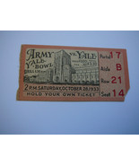 Ticket for Army at Yale Football Game, October 28, 1933 - £8.89 GBP