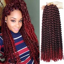 6 packs Crochet Passion Braiding Twist Hair 18inch Long Bohemian Curly W... - $34.57