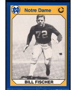 1990 Collegiate Collection Notre Dame #145 Bill Fischer NM Near Mint - $0.75