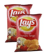 Lay's Potato Chips, Spanish Tomato Tango, 52 grams - India. Pack of 2. V... - $11.87