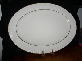 """Lenox Temple Collection,Citation Gold 16"""" Oval Serving Platter-Ribbed Ri... - $119.95"""