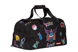 Sprayground Rich Love Patches Alien Ying Yang Duffle Duffel Bag 910D1175NSZ - $111.76 CAD