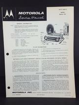 Motorola 1963 Oldsmobile Auto Radio Service Manual Model OEA63 - $14.84