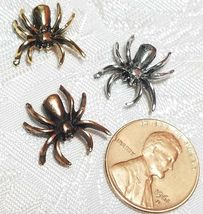 CRAWLING SPIDER FINE PEWTER BEAD - 15x14.5x4.5mm image 3