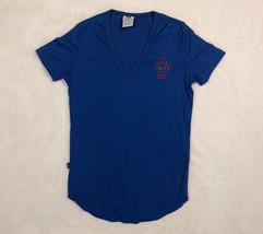 Vtg Levis Womens Sz S 1980 V Neck Shirt USA Olympic Games Blue Single St... - $98.96