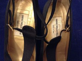 Diego Della Valle Women's Black High Heel Shoes Sz 5.5 image 8