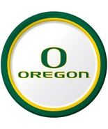 "Oregon Ducks NCAA College University Sports Party 9"" Paper Dinner Plates - $8.66"